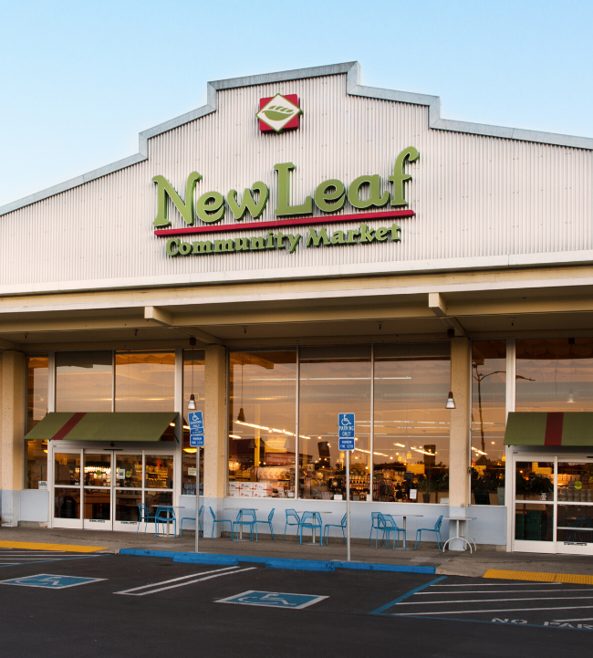 New Leaf Community Markets location in Half Moon Bay, California