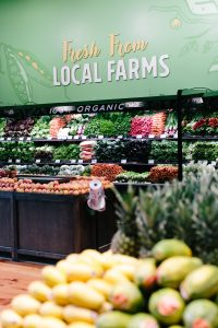 New Leaf Community Markets produce section featuring options fresh from local farms